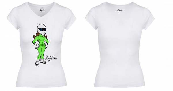"""Ladydriven """"Racer Lady"""" T-Shirt Weiss"""